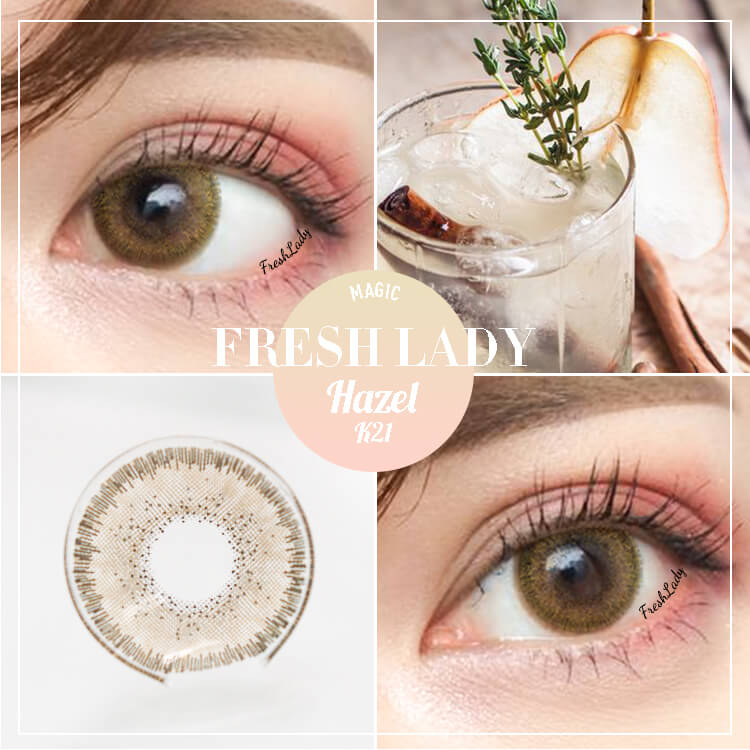 Freshlady hazel contact lenses