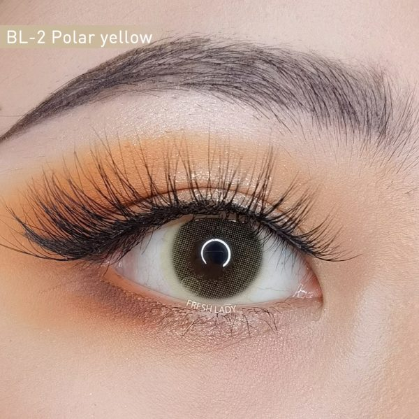 Polar Lights/ Yellow Green contact lenses BL-2