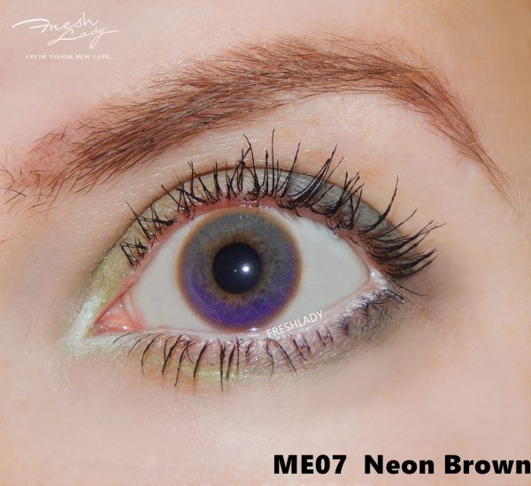 Rainbow Neon Brown ME07 contact lens