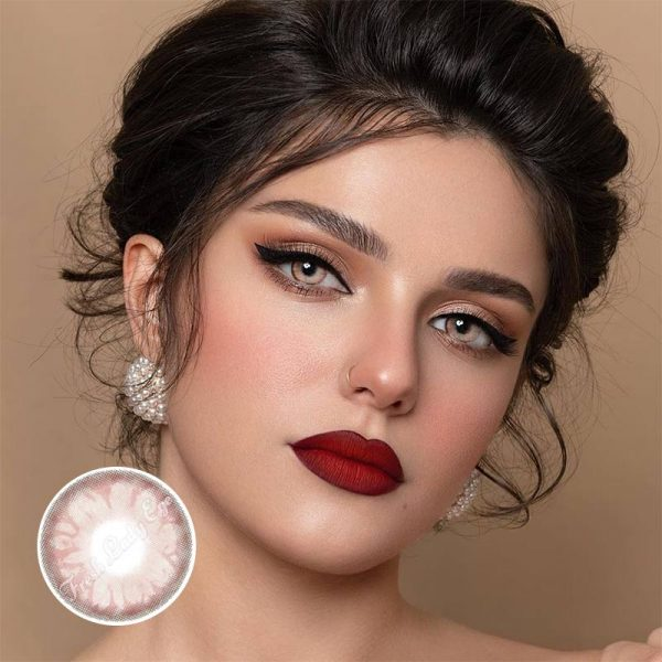 Gem pink contact lenses ME37