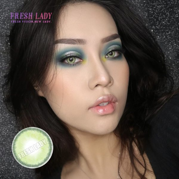 Sorayama green color contact lenses ME64