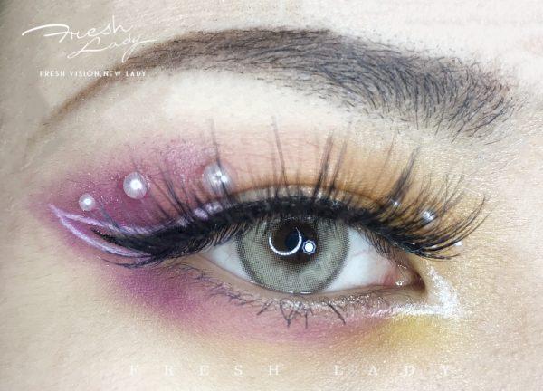 Sorayama gray colored contact lens ME66