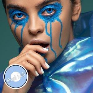 Blue Manson crazy contact lenses G1