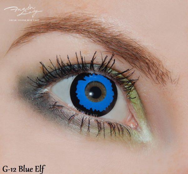 Pixie Blue Elf crazy lens G12