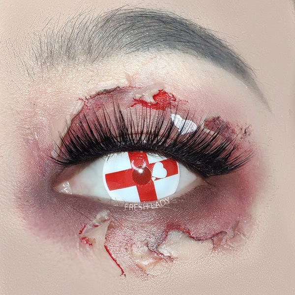 Halloween Red cross crazy contact lenses YS11
