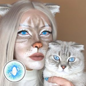 Halloween Ragdoll cat Blue crazy lens YS6