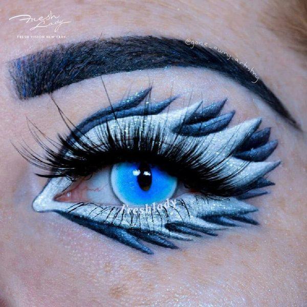 Halloween Ragdoll cat Blue crazy lens YS6