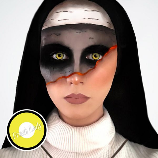 Yellow Manson crazy contact lenses YX6