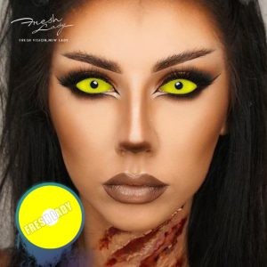 Halloween 22mm DA04 Yellow Sclera Contact Lenses