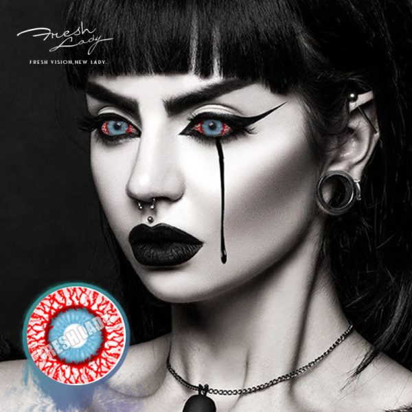 Halloween 22mm DA09 Bloodshot Infected Zombie Contact Lenses