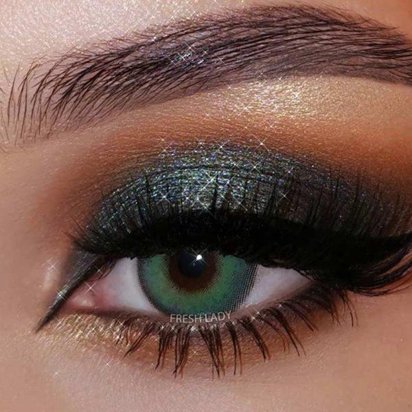 Freshlady ME60 Himalaya green contact lenses