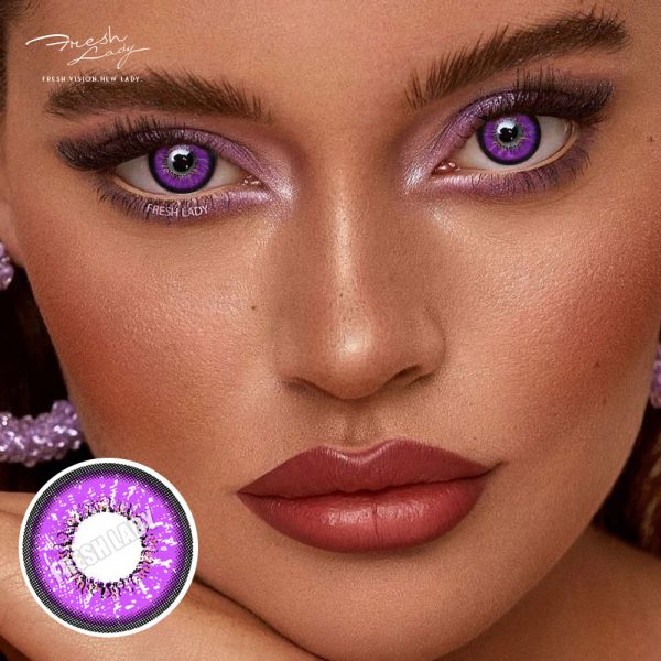OEM Love Words Purple QA04 Contact Lenses