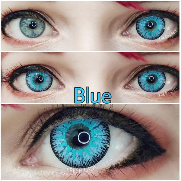 Wholesale Vika tricolor Blue QA10 Contact Lenses
