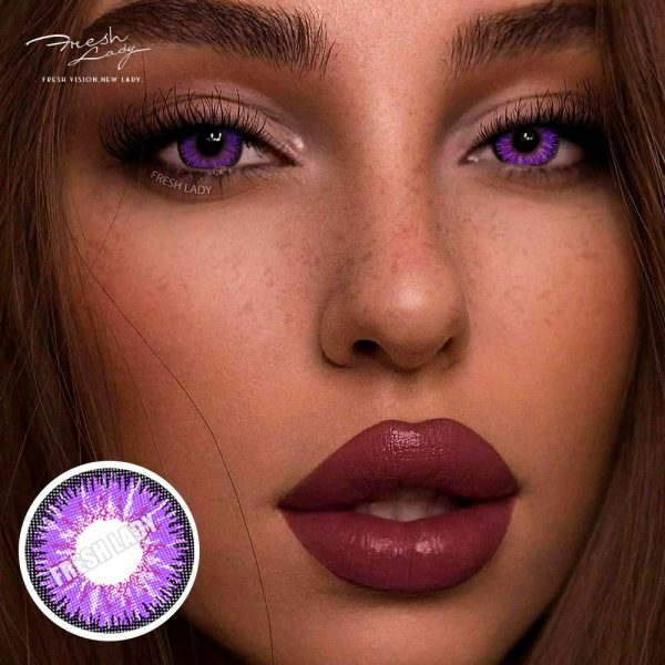 Wholesale Vika tricolor purple QA11 Contact Lenses
