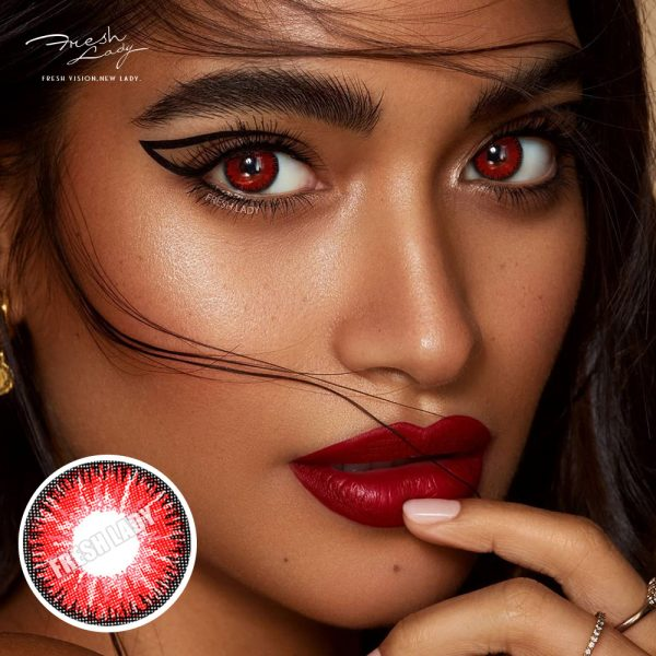 Wholesale Vika tricolor red QA13 Contact Lenses
