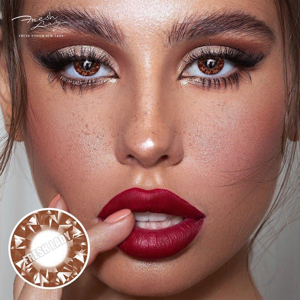 Wholesale Diamonds Brown QA14 Contact Lens