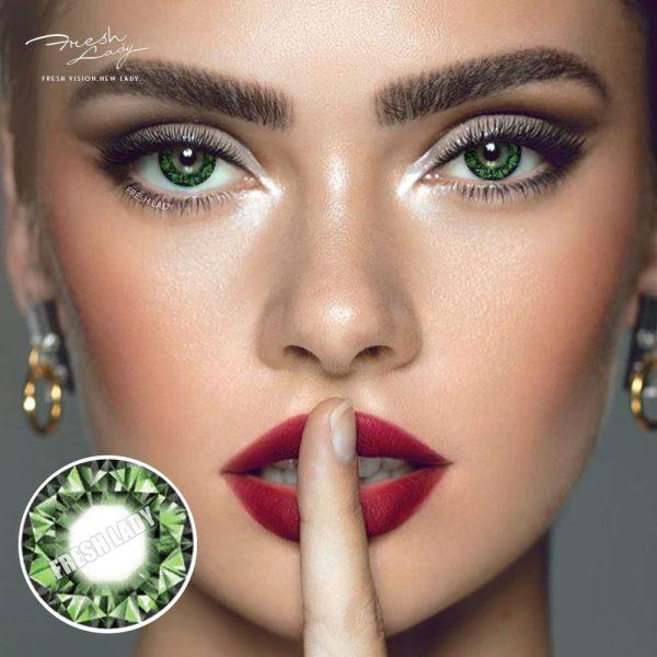 Wholesale Diamonds Green QA15 Contact Lens