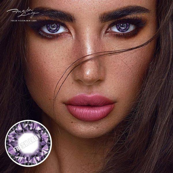 Wholesale Diamonds purple QA17 Contact Lens