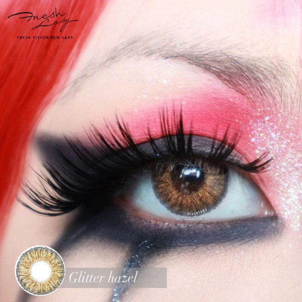 OEM/ODM Glitter hazel colored contact lenses JF02