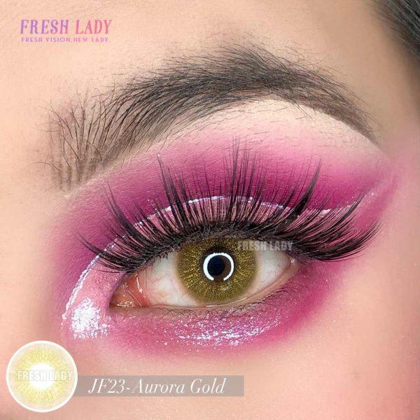 Wholesale Aurora Gold Glitter Color Contact Lens JF23