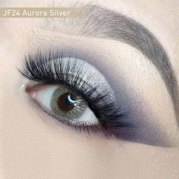 Private Label Aurora Silver Glitter Color Contact Lens JF24
