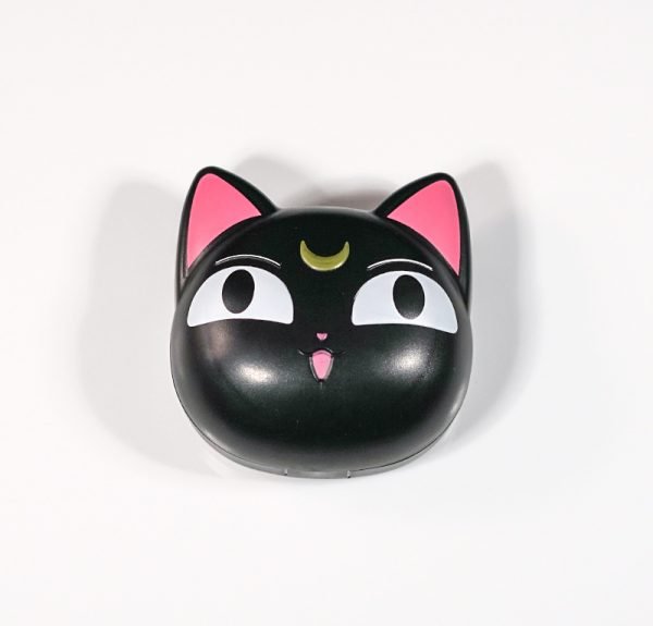 Black Moonlight Cat Kitty Cosmetic Contact Lens Case For Travel