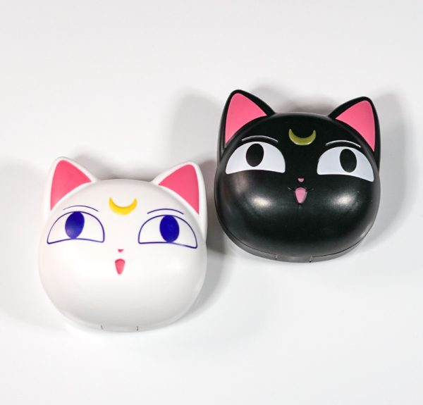 Portable Moonlight Cat Kitty Cosmetic Contact Lens Case For Travel