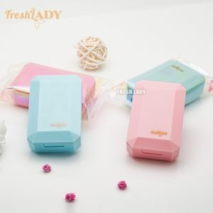 OEM/Wholesale Cute Design Blue/Pink Candy Contact Lens Case