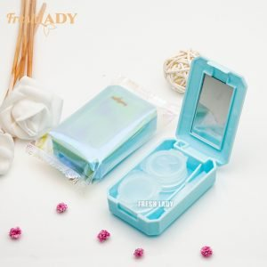 OEM/Wholesale Cute Design Blue Candy Contact Lens Case