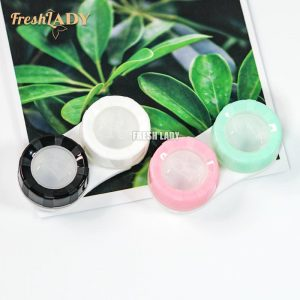 Wholesale Simple Macaron Double Box Contact Lens Case