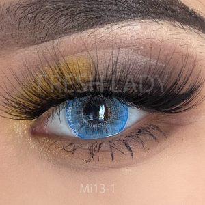 Glacier blue contact lenses